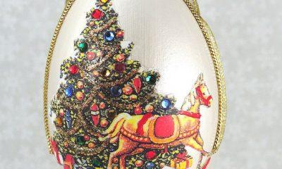 Goose Egg Horse Ornament