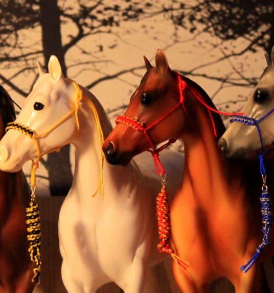 Breyer horse toys Hogwarts-style rope halters