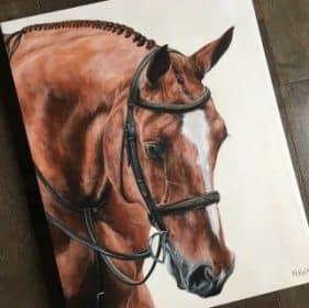 Custom Horse Portrait gift for horse owners