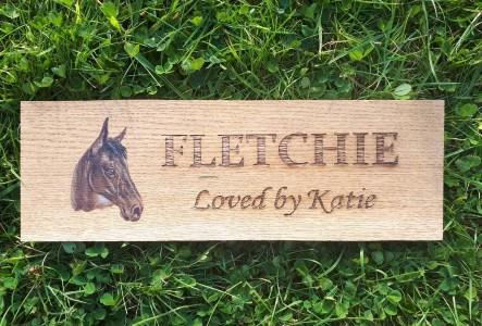 Personalised Horse Door Plaque gift