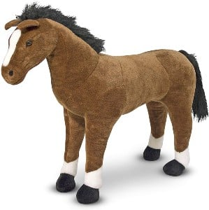 Melissa and Doug big plush horse toy for girls