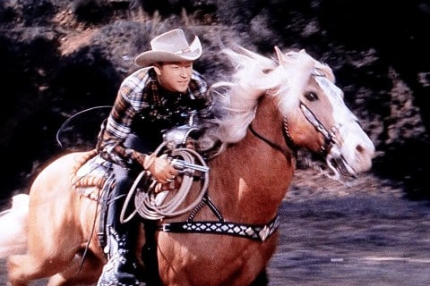 Roy Rogers riding his famous horse Trigger