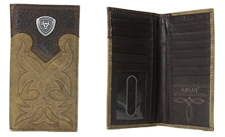 Country style leather wallet