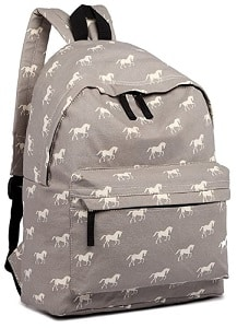 Grey horse backpack for kids