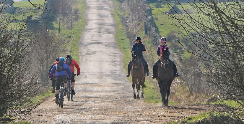 Horse riders annoyed with cyclists on a bridleway