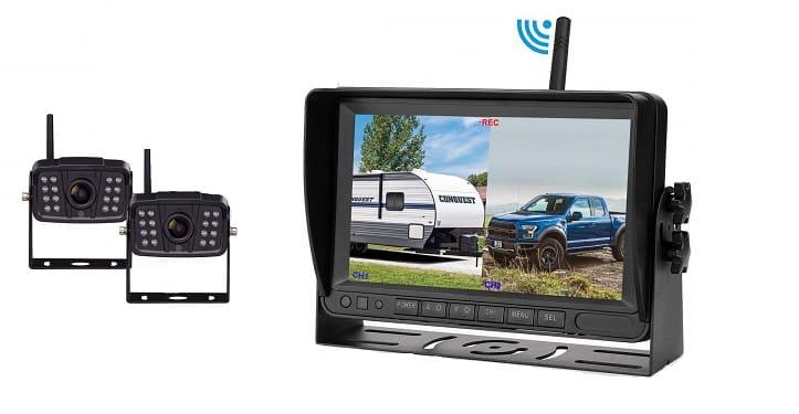 Horse trailer camera system