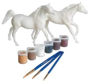 Paint your own horse play set gift for girls