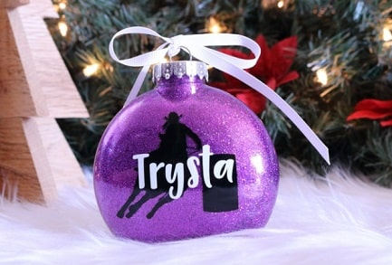 Personalized Christmas tree bauble