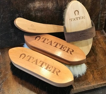 Personalized horse grooming brush set