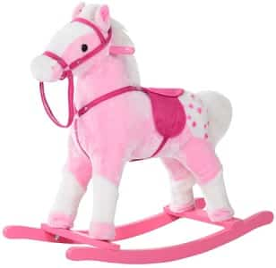 Pink horse ride on toy