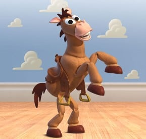 The horse Bullseye from Toy Story