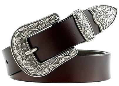 Women Vintage Leather Waist Belt