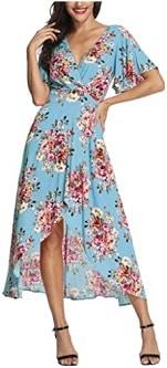Azalosie Wrap Maxi Dress