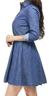 Denim western style dress