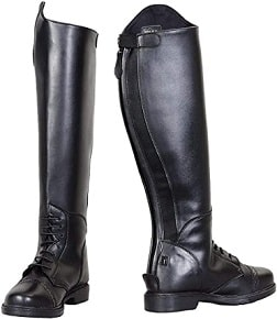 TuffRider Starter Back Zip Field Boots in Synthetic Leather