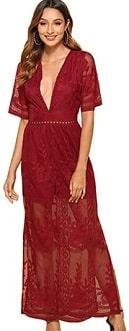 Women's Sexy Short Sleeve Long Dress