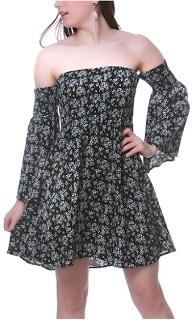 Women's off the shoulder summer dress
