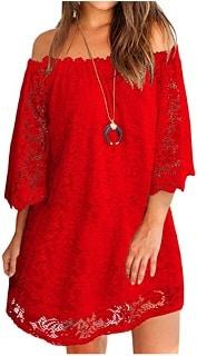 Women's red mini dress