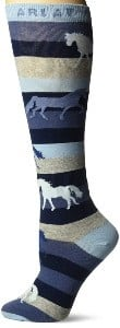 Ariat women's striped horse riding socks