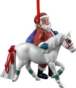 Breyer santa and pony Christmas tree decoration