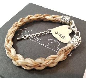 Custom horsehair bracelet