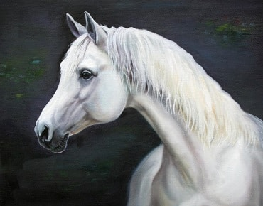 Custom oil painting of your horse