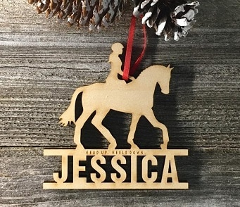 Equine Christmas ornaments