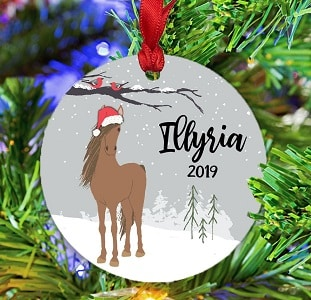 Horse Christmas tree tag