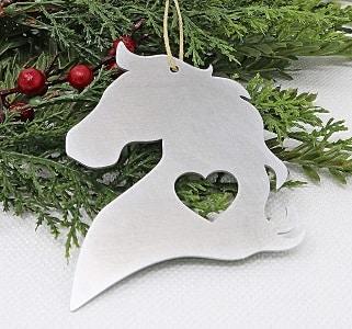 Horse Head Christmas decoration
