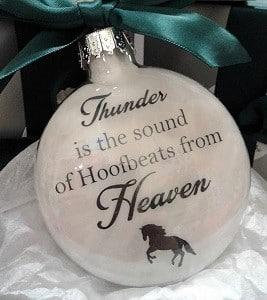 Custom horse Christmas bauble ornament