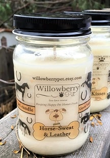 Horse sweat and leather scented candle