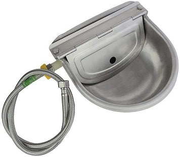 Lucky Farm Automatic Water Feeder Trough Bowl with Pipe