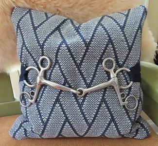 Pelham Horse Bit Equestrian Pillow Cover