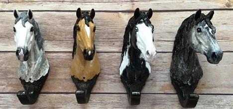 Custom hand-painted horse halter hooks