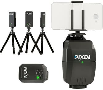 Pixem auto tracking camera mount with accessories
