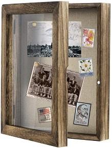 Vintage wooden shadow box