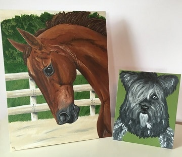 Custom horse portrait