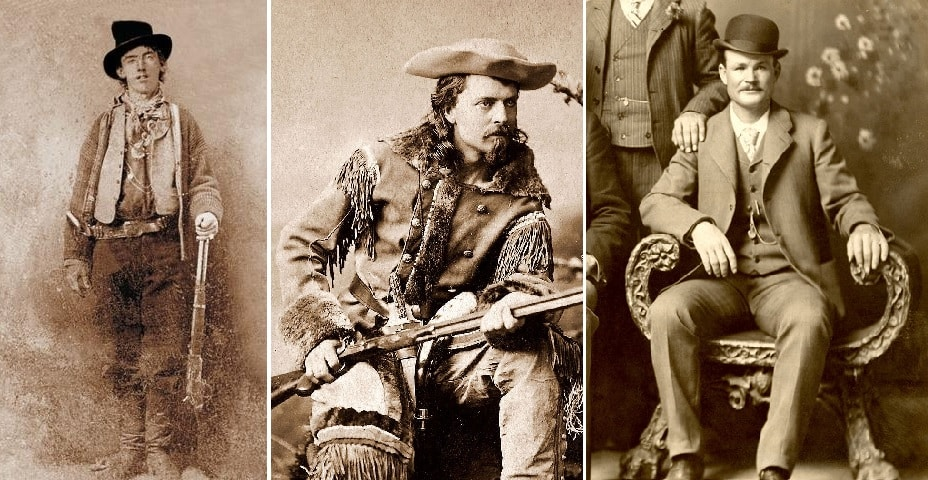 Famous cowboys and outlaws of the Wild West