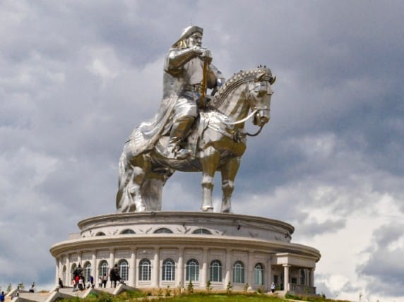 Genghis Khan monument in mongolia
