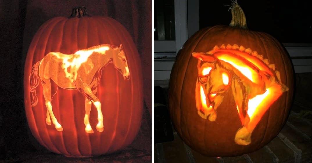 Best horse pumpkin carving ideas for Halloween