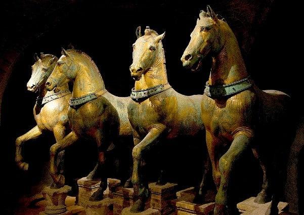 Horses of Saint Mark in Venice, Italy)