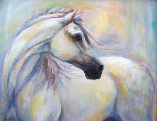 Heavenly Horse drawing by equine article Janet Ferraro