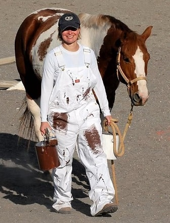 Paint horse and painter