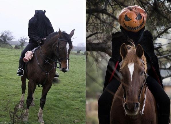 Headless horse and rider pumpkin fancy dress