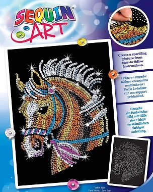 Horse arts and crafts kit. Horse gift for young girls