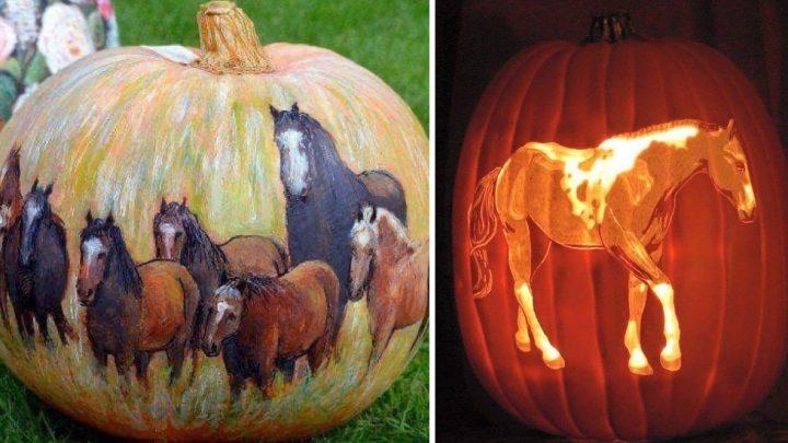 Horse pumpkin carving ideas for Halloween