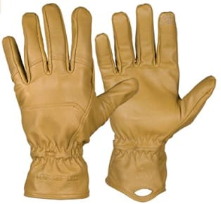 Tan leather ranch gloves for a cowboy or rancher owner gift idea