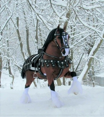 Clydesdale plush horse toy