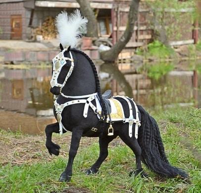 Custom plush horses