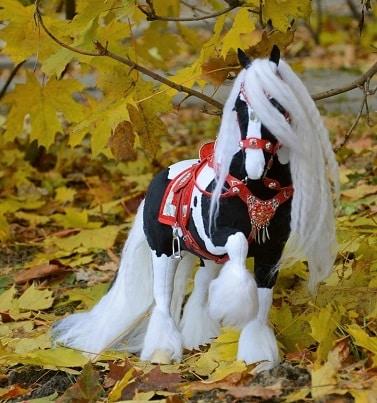 Gypsy Vanner plush horse